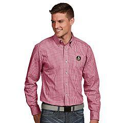 Men's Antigua Florida State Seminoles Associate Plaid Shirt