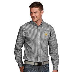 Men's Antigua Iowa Hawkeyes Associate Plaid Shirt