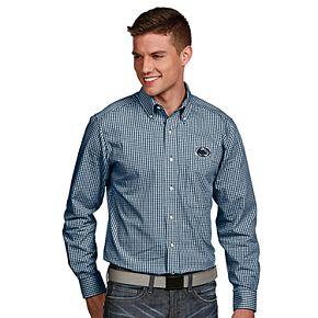 Men's Antigua Penn State Nittany Lions Associate Plaid Shirt