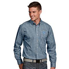 Men's Antigua North Carolina Tar Heels Associate Plaid Shirt