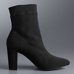Simply Vera Vera Wang Persimmon Women's Ankle Boots