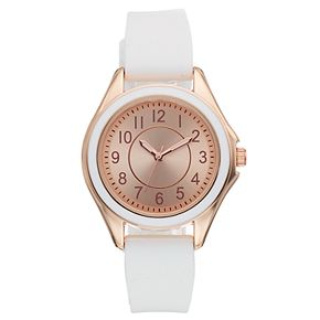 Women's White Silicone Watch