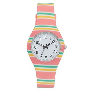 Women's Striped Silicone Watch