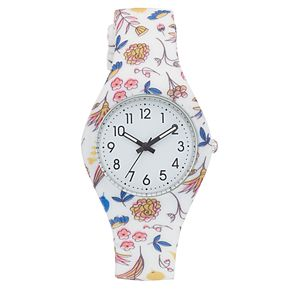 Women's Floral Silicone Watch