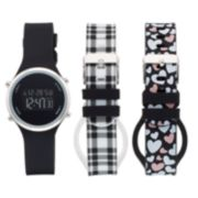 Women's Digital Watch & Interchangeable Band Set