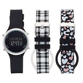 Women's Digital Watch & Interchangeable Band Set