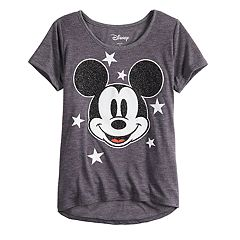 Disney's Mickey Mouse 90th Anniversary Girls 7-16 Mickey Face Graphic Tee