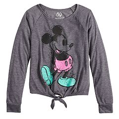 Disney's Mickey Mouse 90th Anniversary Front Tie Long Sleeve Tee