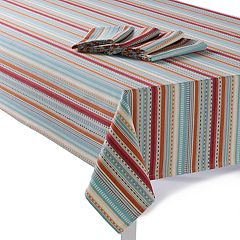 Food Network™ Striped Tablecloth & Napkin Set