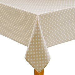Celebrate Spring Together Neutral Polka-Dot Tablecloth