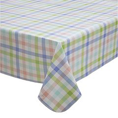 Celebrate Spring Together Vinyl Gingham Tablecloth