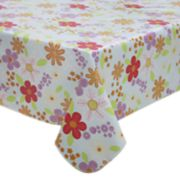 Celebrate Spring Together Vinyl Floral Tablecloth