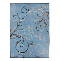 Ruggable® Washable Ironwork Swirls 2-piece Indoor/outdoor Rug System