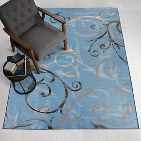 Ruggable® Washable Ironwork Swirls 2-piece Indoor/outdoor Rug System