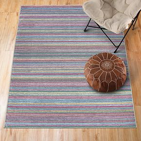 Ruggable® Washable Striped 2-piece Indoor/Outdoor Rug System