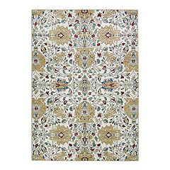 Ruggable® Washable Traditional Floral 2-piece Indoor/outdoor Rug System