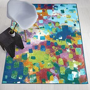 Ruggable® Washable Watercolor Abstract 2-piece Indoor/outdoor Rug System