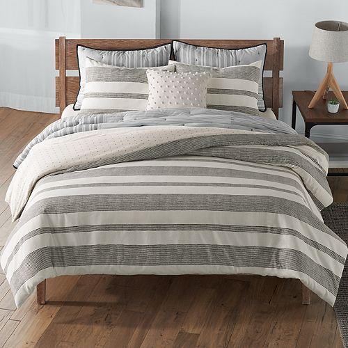 new sonoma goods for life farmhouse stripe comforter set. Black Bedroom Furniture Sets. Home Design Ideas