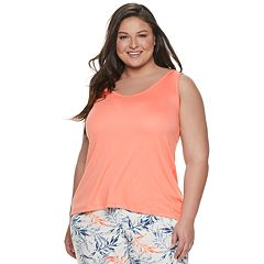 Plus Size Gloria Vanderbilt High-Low Pajama Tank