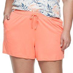 Plus Size Gloria Vanderbilt Pajama Shorts