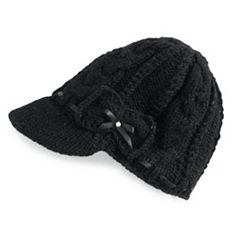 Women's SIJJL Braided Ribbon Brim Wool Hat