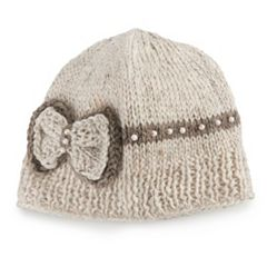 Women's SIJJL Wool Beaded Bow Beanie