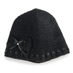 Women's SIJJL Wool Ribbon Bow Beanie