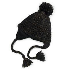Women's SIJJL Wool Pom Pom Peruvian Hat
