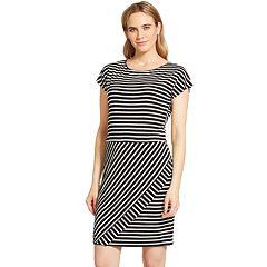 Women's IZOD Striped T-Shirt Dress