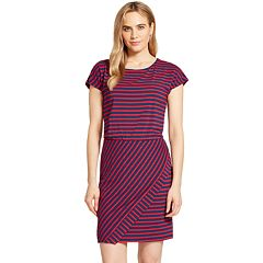 Women's IZOD Striped T-Shirt Dress
