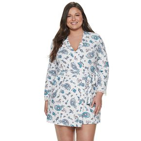 Plus Size Gloria Vanderbilt Perfect Fit Robe
