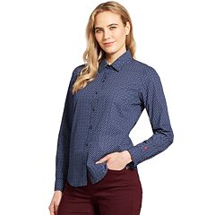 Women's IZOD Print Button-Front Shirt