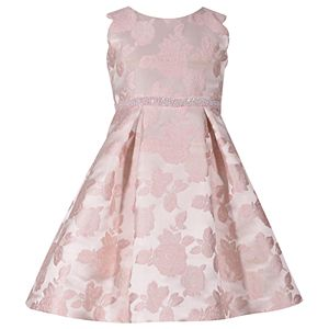 f7f9a1bfc0c9 Girls 7-16   Plus Size Bonnie Jean Metallic Ombre Rainbow Mesh Dress