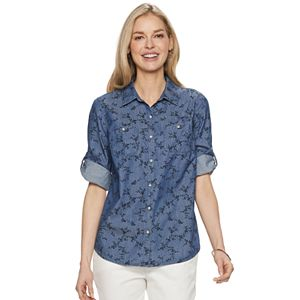 c3e030bc Petite Croft & Barrow® Knit-to-Fit Shirt. (40). Sale