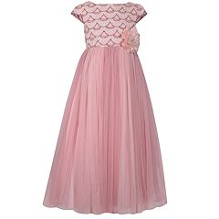 Girls 7-16 Bonnie Jean Sequin Bodice Mesh Ball Gown