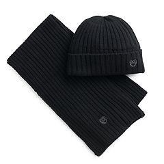 Men's Chaps Ribbed Knit Hat & Scarf Set