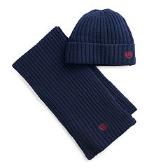 Men's Chaps Ribbed Knit Hat & Scarf Set