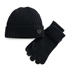 Men's Chaps Ribbed Knit Hat & Tech Touch Glove Gift Set