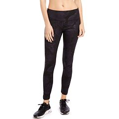 Women's Jockey Sport Metallic Leaves Midrise Ankle Leggings