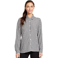 Women's IZOD Gingham Peplum Shirt