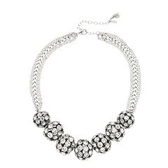 Simply Vera Vera Wang Silver Tone Simulated Stone Fireball Frontal Necklace