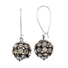 Simply Vera Vera Wang Hematite Tone Simulated Crystal Fireball Drop Earrings