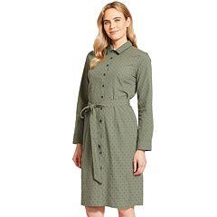Women's IZOD Print Utility Shirt Dress