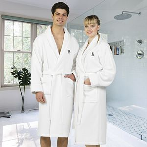 Linum Home Textiles Turkish Cotton Personalized Waffle Terry Bathrobe