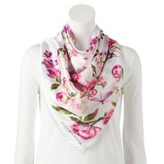 Women's Dana Buchman All-Over Peony Floral Square Scarf