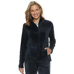 Women's Croft & Barrow® Zip-Front Velour Jacket