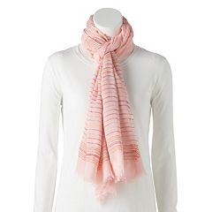 Women's LC Lauren Conrad Multicolored Stripe Oblong Scarf