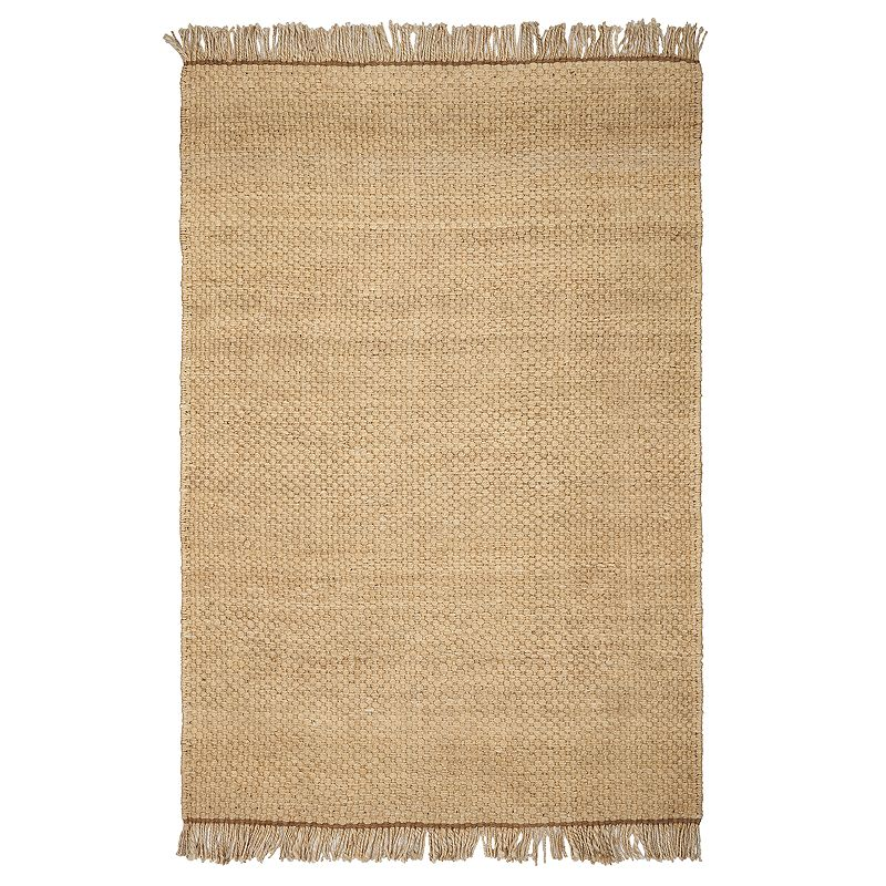 "You\'ll love the earthy style of this KAS Rugs woven rug, featuring fringe detail for added charm. Woven design CONSTRUCTION AND CARE Pile height: 0.5"" Jute Professional cleaning recommended Manufacturer\'s 1-year limited warranty For warranty information please click here Imported Attention: All rug sizes are approximate and should measure within 2-6 inches of stated size. Pattern may also vary slightly. This rug does not have a slip-resistant backing. Rug pad recommended to prevent slipping on smooth surfaces. . Size: 5X7 Ft. Color: Natural. Gender: unisex. Age Group: adult. Material: Polypropylene."