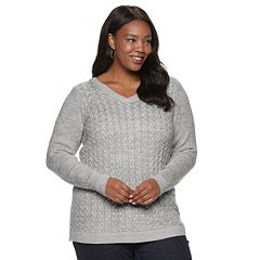 Plus Size Croft & Barrow® V-Neck Sweater