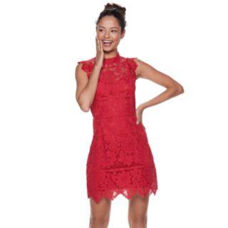 Juniors' Love, Fire Lace Bodycon Dress